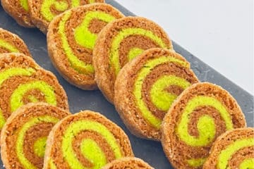 Pandan Roll Biscuits